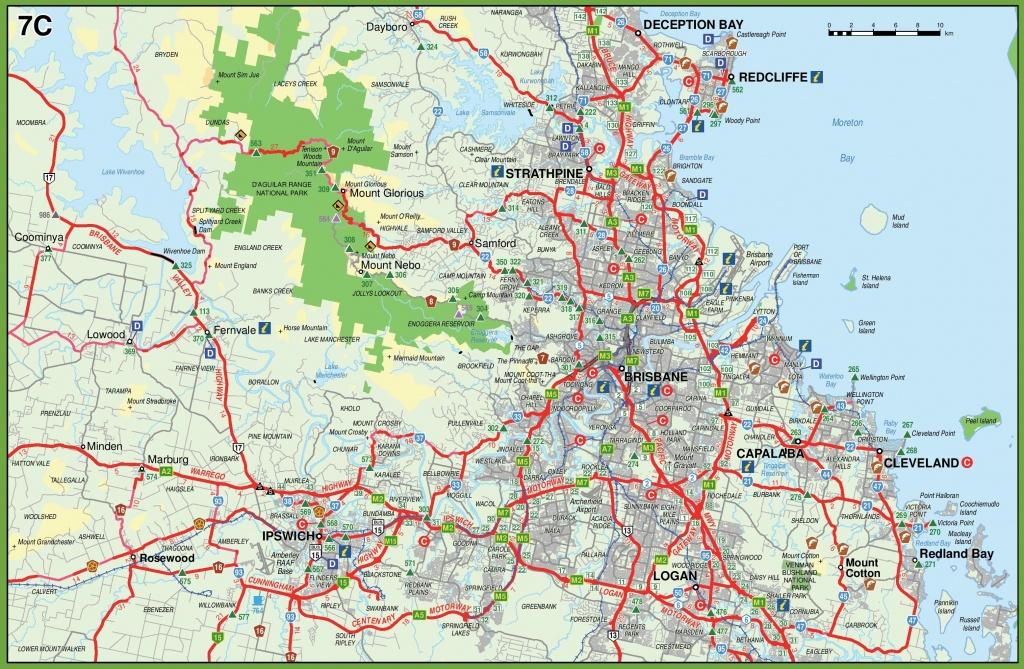 Brisbane Maps | Australia | Maps Of Brisbane - Printable Map Of Brisbane