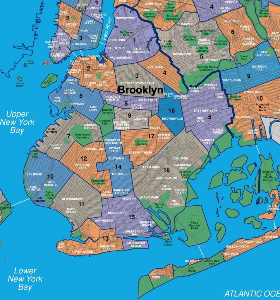 Brooklyn Neighborhood Map - Map Of Brooklyn Ny Neighborhoods (New - Printable Map Of Brooklyn Ny Neighborhoods