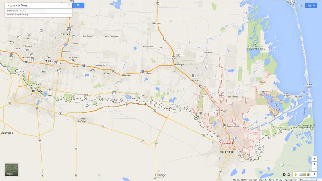Brownsville, Texas Map - Google Maps Harlingen Texas
