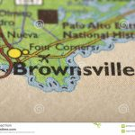 Brownsville, Texas On Map Stock Photo. Image Of Print   87763174   Map Of Brownsville Texas Area