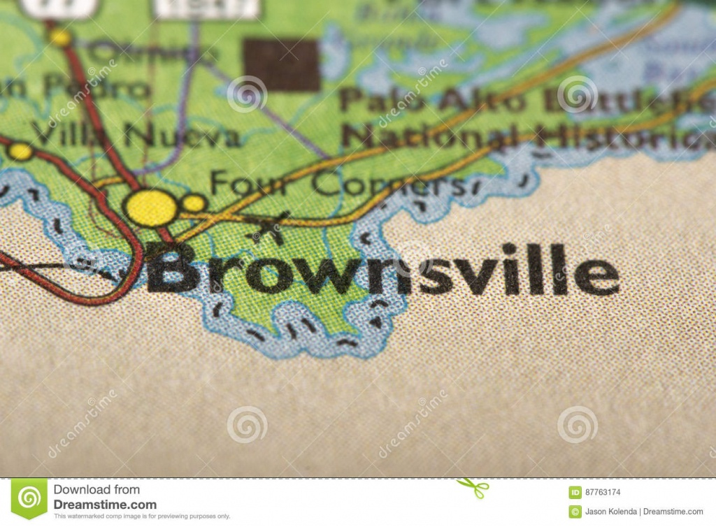 Brownsville, Texas On Map Stock Photo. Image Of Print - 87763174 - Map Of Brownsville Texas Area