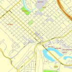 Brownsville, Texas, Us, + Matamoros, Mexico, Printable Vector Street   Map Of Brownsville Texas Area