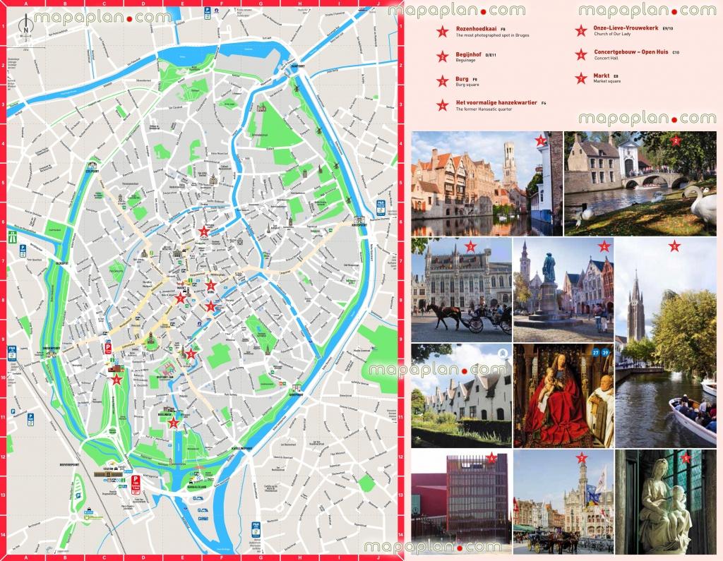 Bruges Map - Bruges City Centre Free Printable Travel Guide Download - Printable Street Map Of Bruges