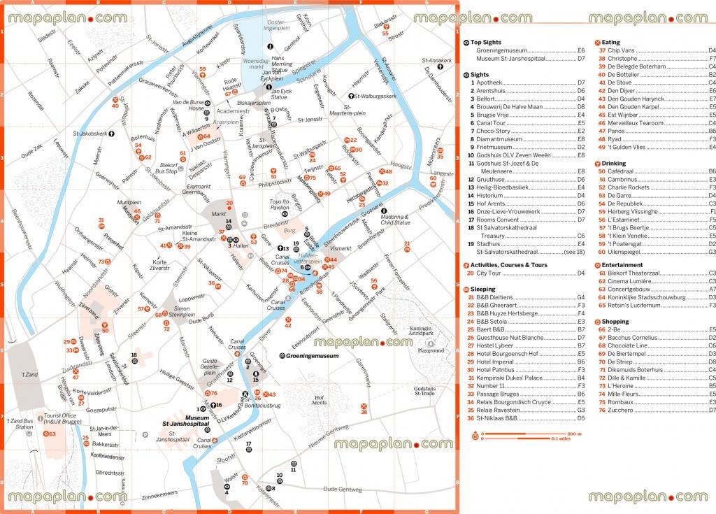 Bruges Tourist Map And Travel Information   Download Free Bruges - Bruges Tourist Map Printable