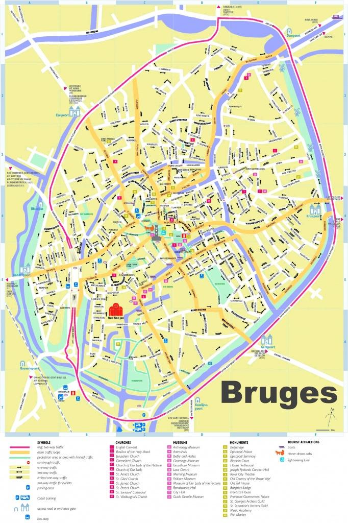 Bruges Tourist Map - Printable Street Map Of Bruges