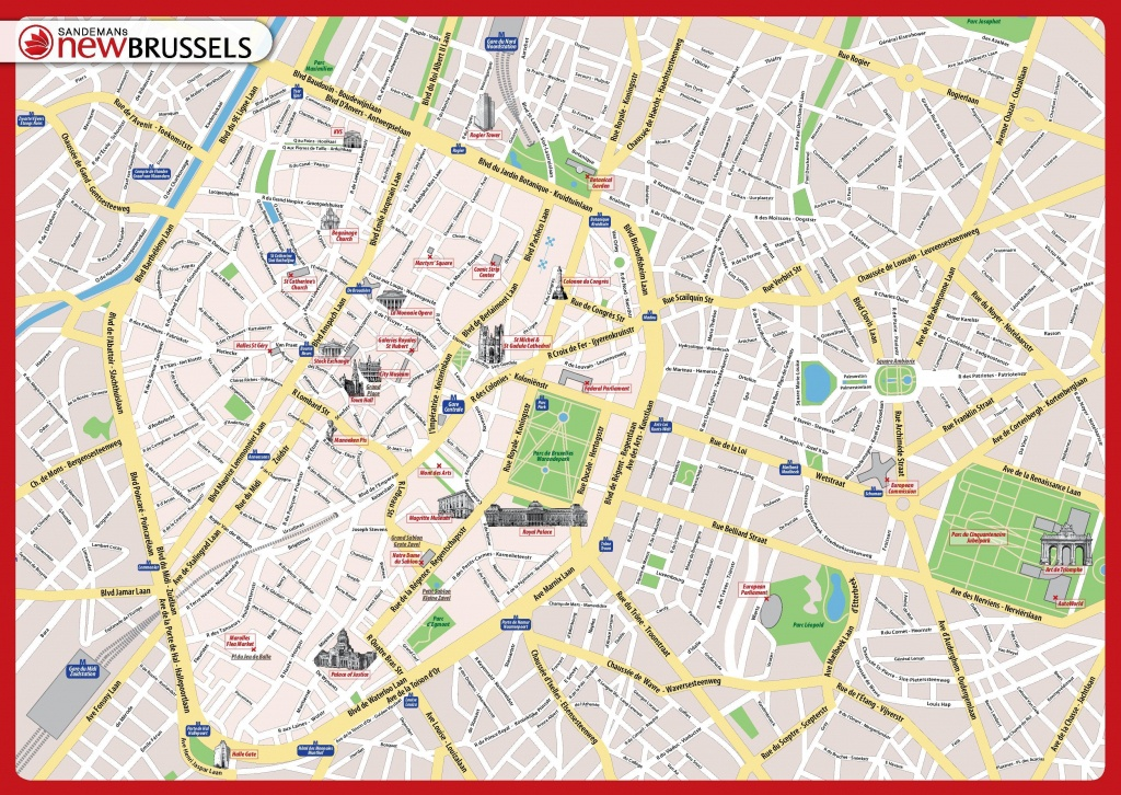 Brussels City Map Printable - Printable Map Of Brussels City Centre - Printable Map Of Lille City Centre