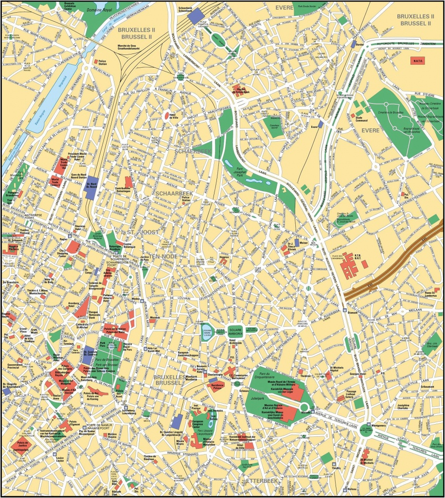 Brussels Map - Detailed City And Metro Maps Of Brussels For Download - Tourist Map Of Brussels Printable