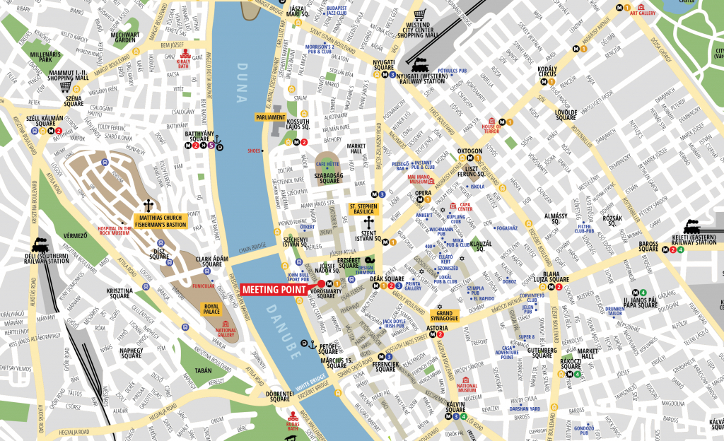 Budapest Attractions Map Pdf - Free Printable Tourist Map Budapest - Printable Map Of Budapest