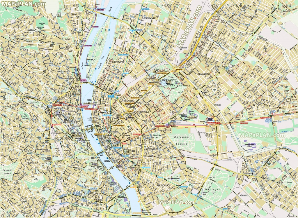 Budapest Maps - Top Tourist Attractions - Free, Printable City - Budapest Street Map Printable
