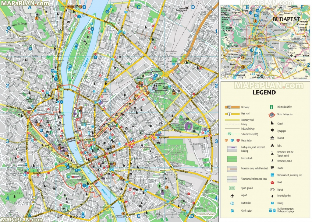 Budapest Maps - Top Tourist Attractions - Free, Printable City - Free Printable City Maps