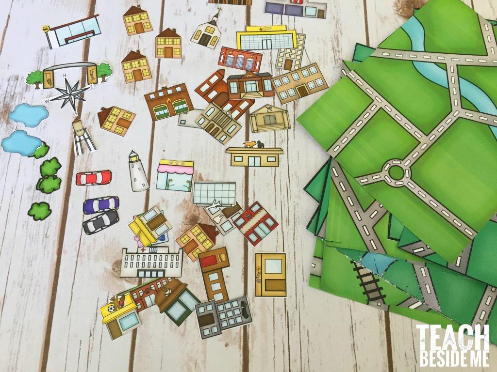 Build A City Map – Printable Geography Set – Teach Beside Me - Printable City Maps