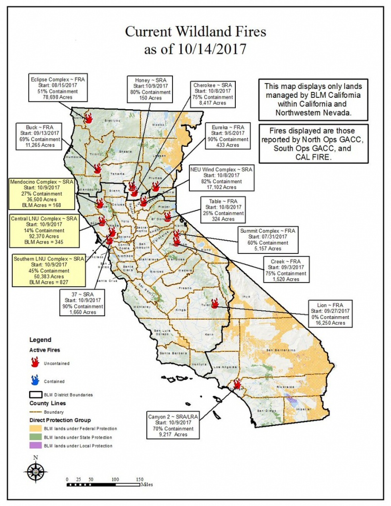 "Bureau Of Land Management California On Twitter: ""10/14 Wildfire Map - Blm Map California"