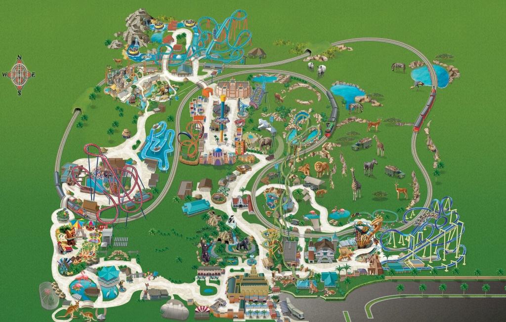 Busch Gardens Tampa Bay Park Map May 2017   Places In 2019   Busch - Florida Busch Gardens Map