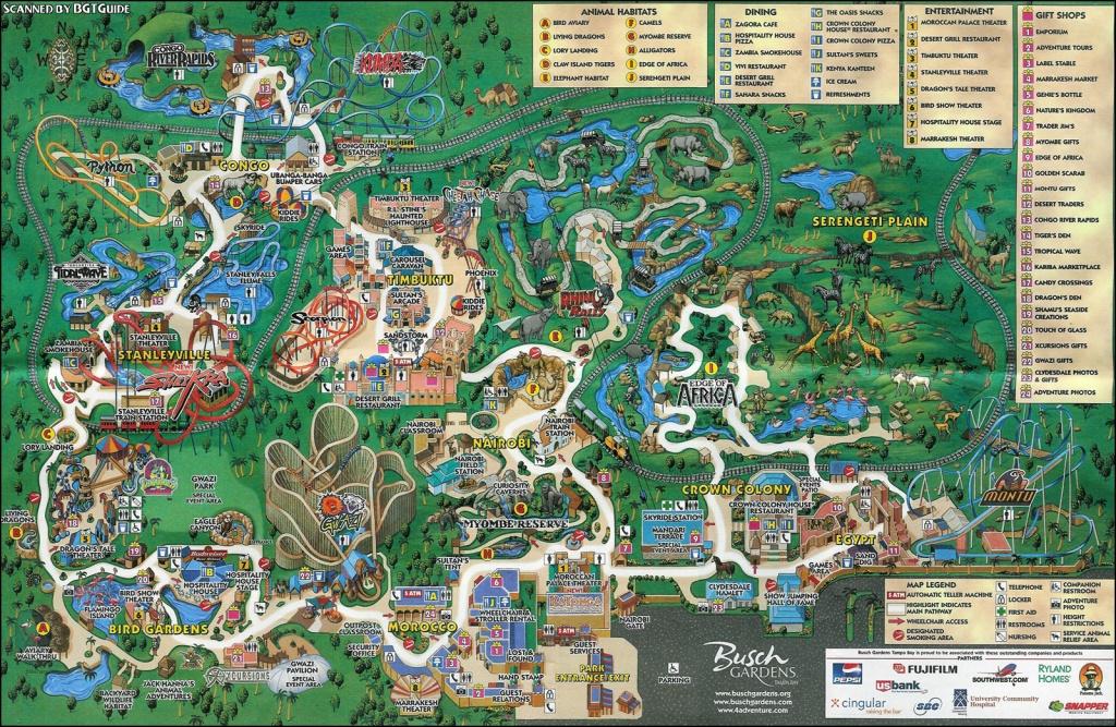 Busch Gardens Tampa - Markus Ansara - Busch Gardens Florida Map