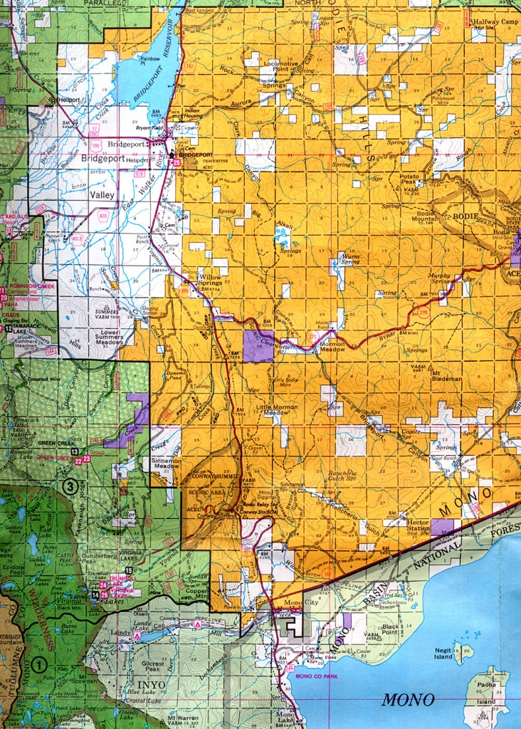 Buy And Find California Maps: Bureau Of Land Management: Northern - Blm Land Map Southern California