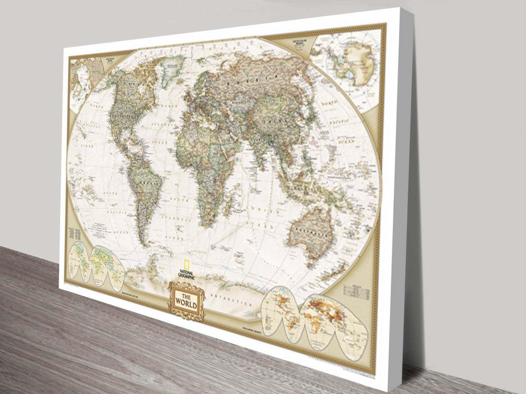 Buy National Geographic World Map Wall Arr Aldgate Adelaide Australia - National Geographic Printable Maps