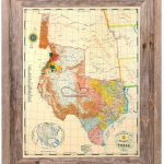 Buy Republic Of Texas Map 1845 Framed   Historical Maps And Flags   Texas Map Framed Art