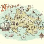 By Ryan O'rourke | Maps | Neverland Map, Peter Pan Neverland, Peter   Neverland Map Printable