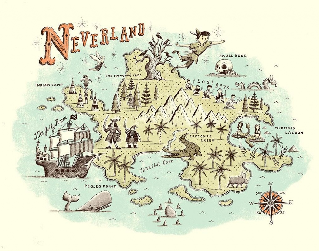 By Ryan O'rourke | Maps | Neverland Map, Peter Pan Neverland, Peter - Neverland Map Printable