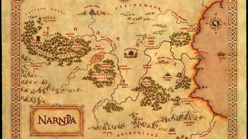 C. S. Lewis' Fantasy Worlds: Holding The Mirror Up To Nature   Cherwell - Printable Map Of Narnia