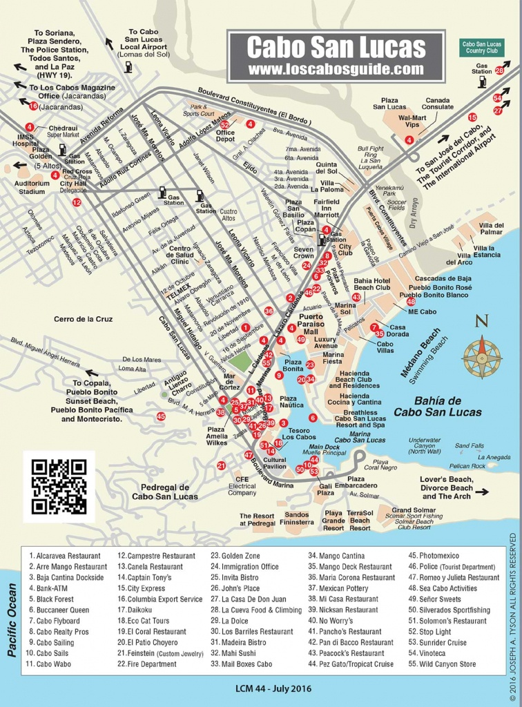 Cabo San Lucas Map - Los Cabos Guide - Printable Map Of San Jose