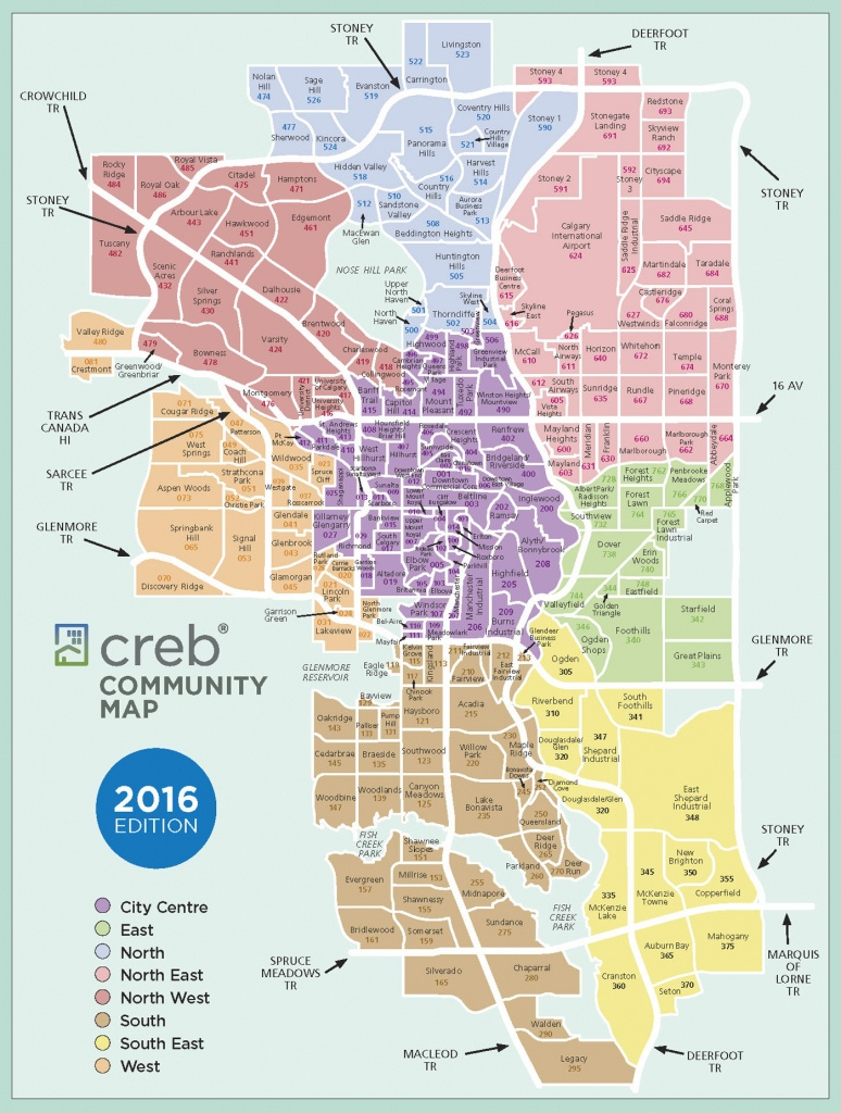 Calgary Communities Map - Printable Map Of Calgary