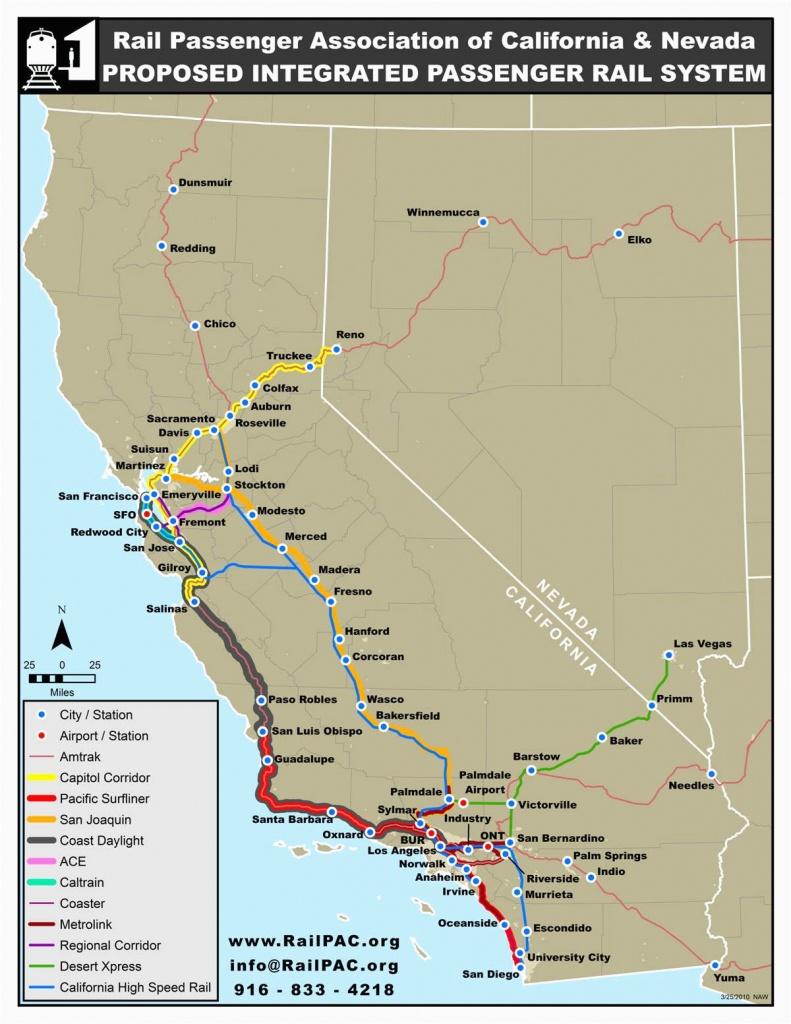 California Amtrak Stations Map   Secretmuseum - Amtrak Map California
