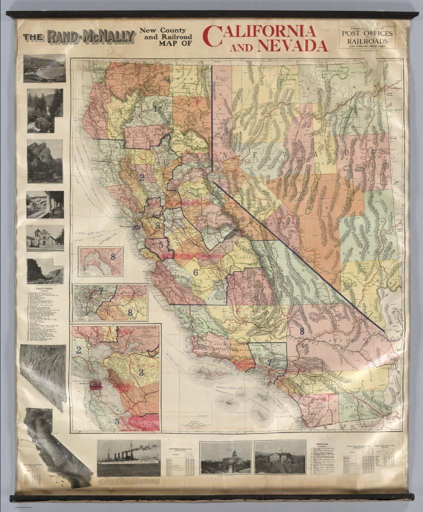 California And Nevada. - David Rumsey Historical Map Collection - Rand Mcnally California Map