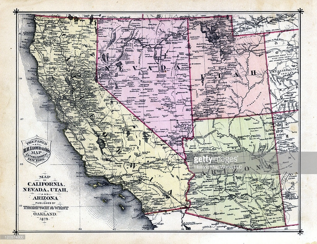 California And Nevada Map And Travel Information | Download Free - Road Map Of California Nevada And Arizona