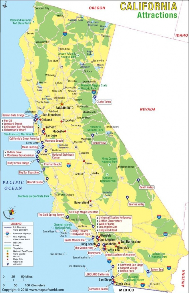 California Attractions Map | Travel In 2019 | California Attractions - California Things To Do Map