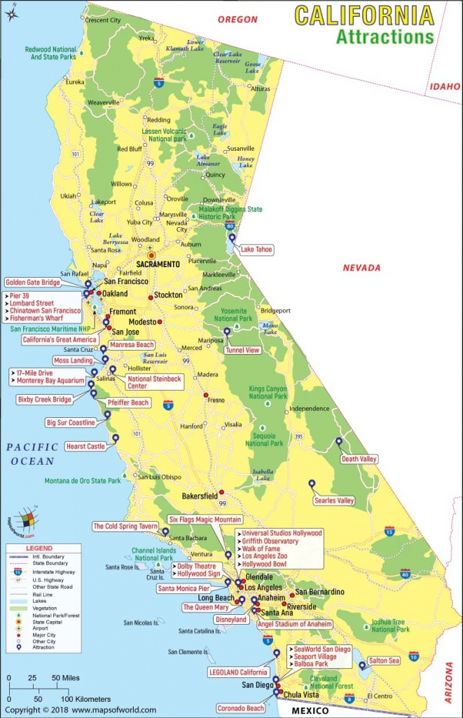 California Attractions, Things To Do In California And Places To Visit - California Travel Map