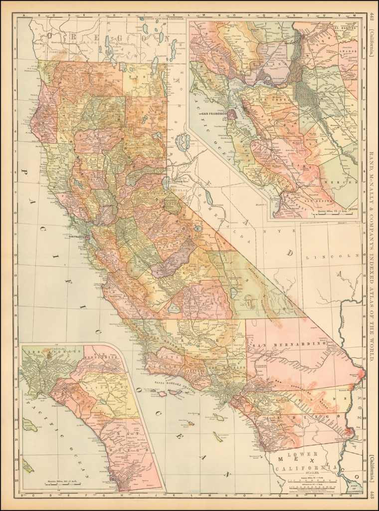 California - Barry Lawrence Ruderman Antique Maps Inc. - Rand Mcnally California Map