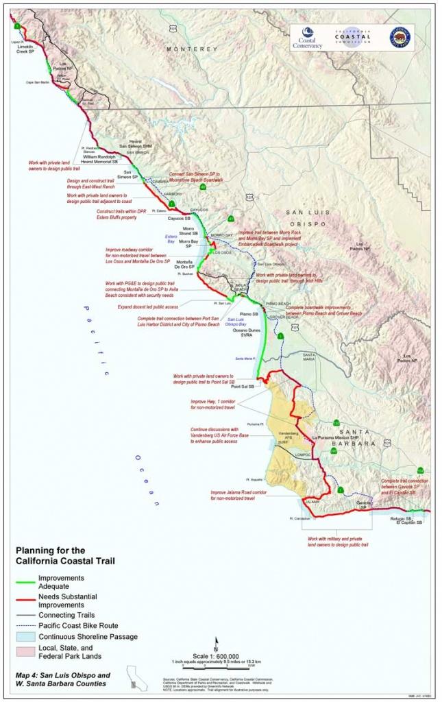 California Coastal Trail - California Coast Bike Route Map