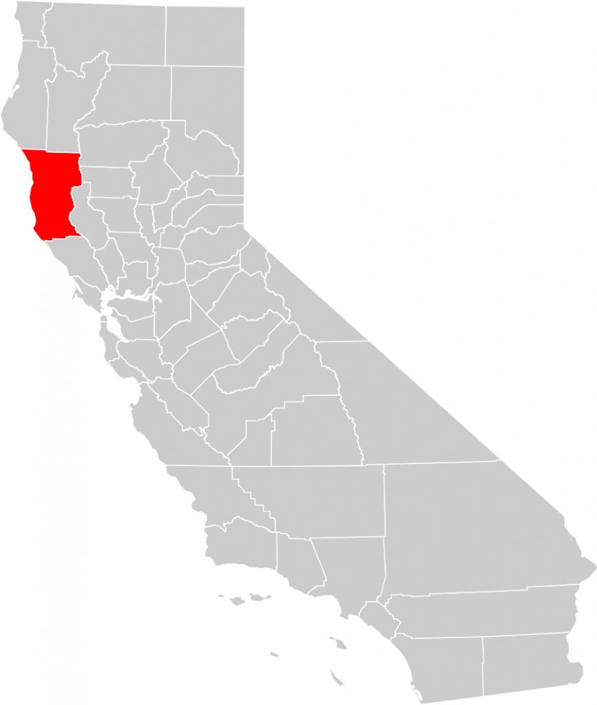 California County Map (Mendocino County Highlighted) • Mapsof - Mendocino County California Map