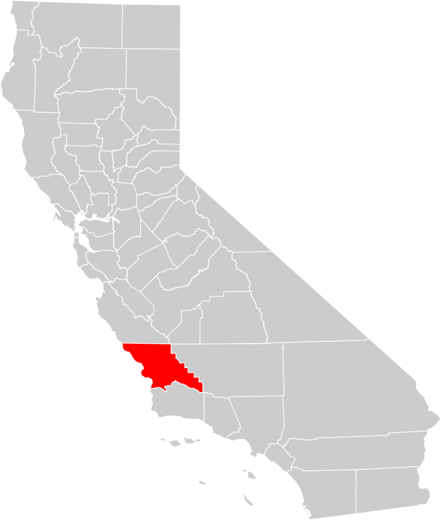 California County Map (San Luis Obispo County Highlighted) • Mapsof - San Luis Obispo California Map