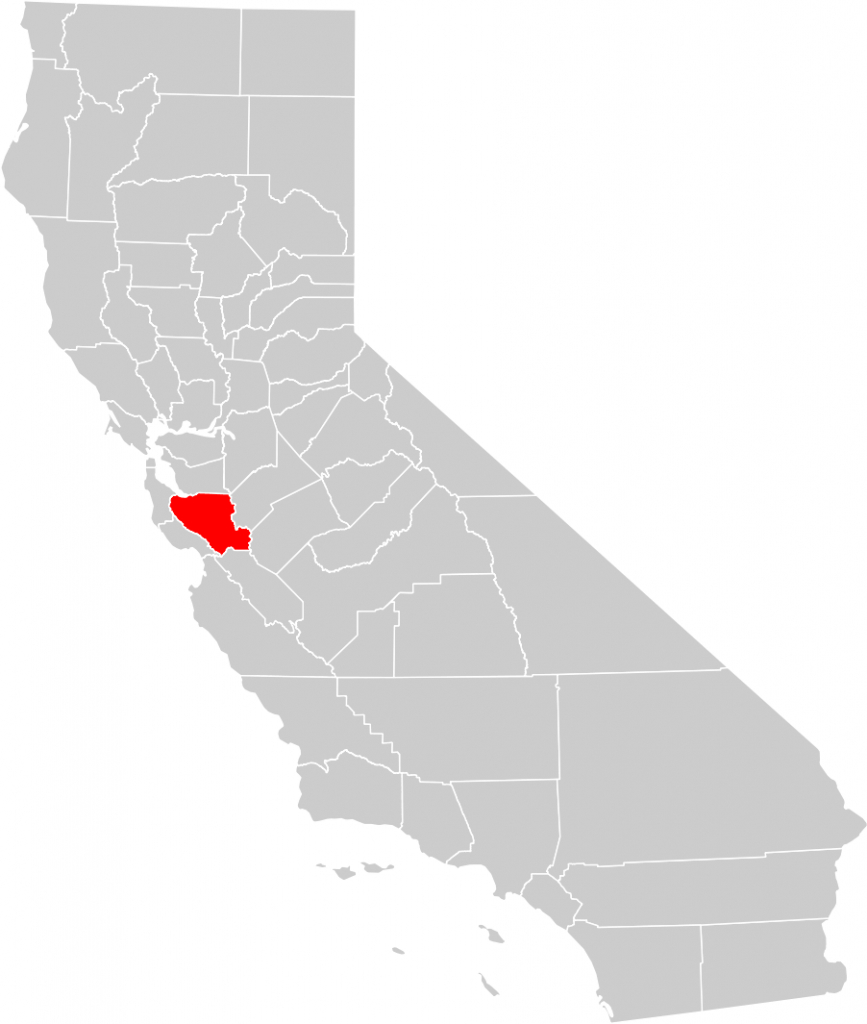 California County Map (Santa Clara County Highlighted) • Mapsof - Santa Clara California Map