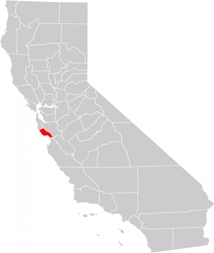 California County Map (Santa Cruz County Highlighted) • Mapsof - Santa Cruz California Map