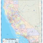 California County Wall Map   Maps   Northern California Wall Map
