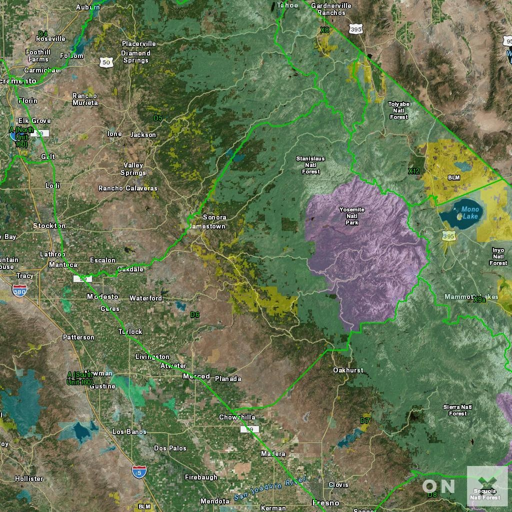 California D6 Deer Hunting Zone - Map & Information - California Hunting Map