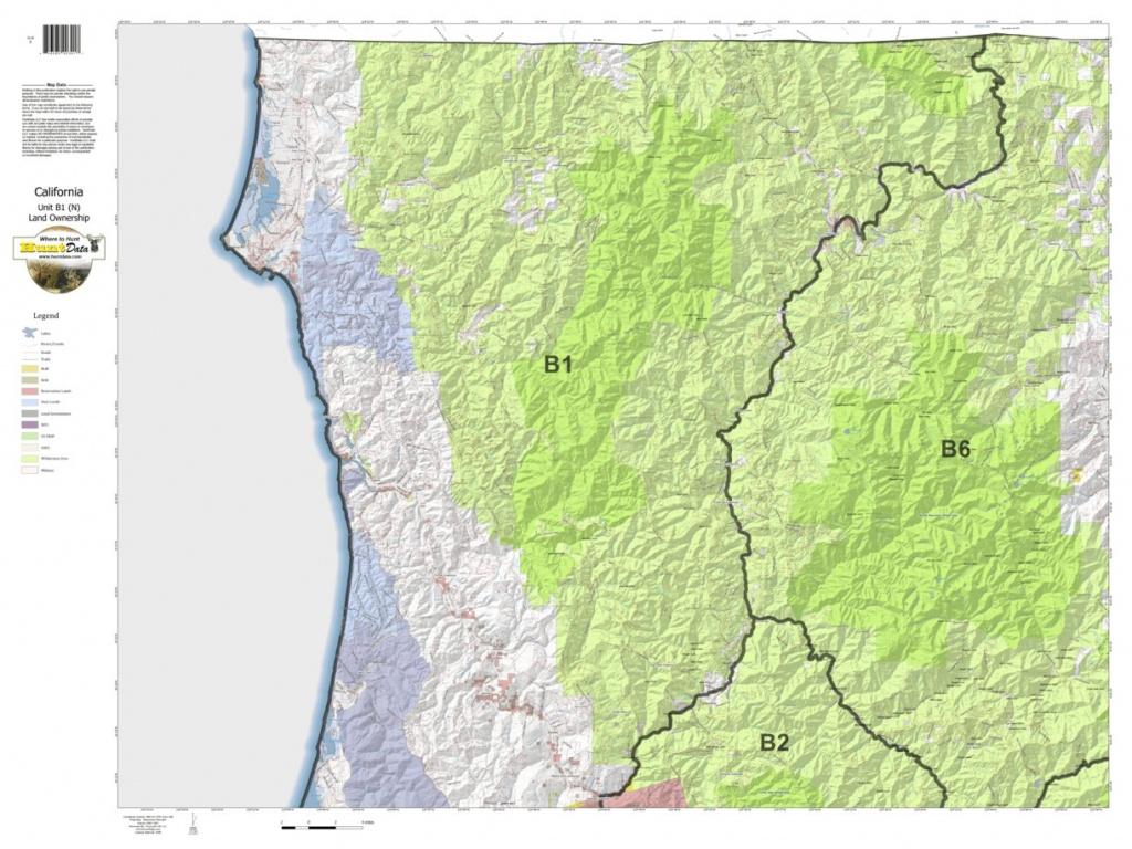 California Deer Hunting Zone B1(N) Map - Huntdata Llc - Avenza Maps - California B Zone Deer Hunting Map