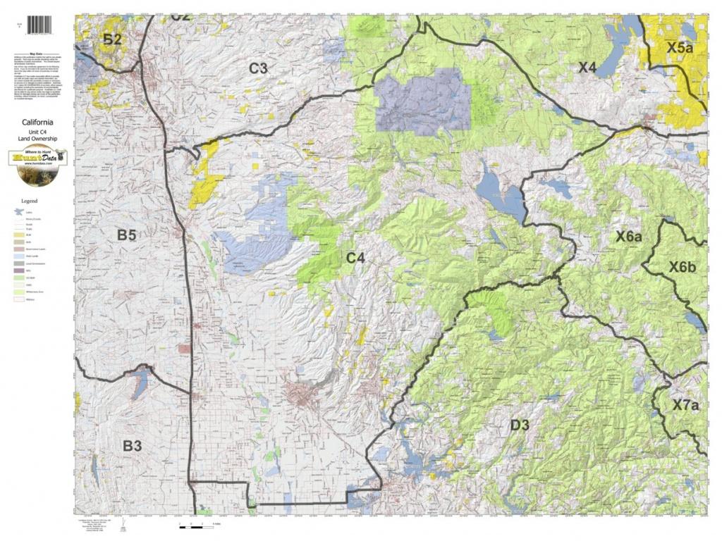 California Deer Hunting Zone C4 Map - Huntdata Llc - Avenza Maps - Deer Hunting Zones In California Maps