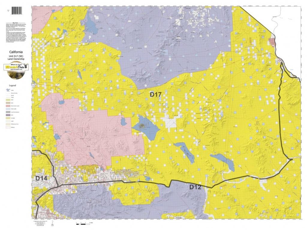 California Deer Hunting Zone D17(Se) Map - Huntdata Llc - Avenza Maps - California Hunting Zone Map