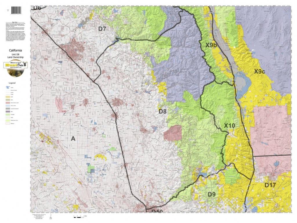 California Deer Hunting Zone D8 Map - Huntdata Llc - Avenza Maps - California Deer Zone Map