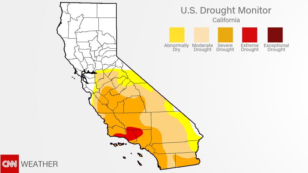 California Drought: Recent Rains Have Almost Ended It - Cnn - California Drought 2017 Map