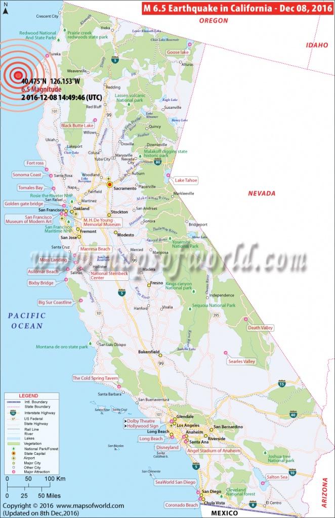 California Earthquake Map   Area Affectedearthquake In California - California Earthquake Map