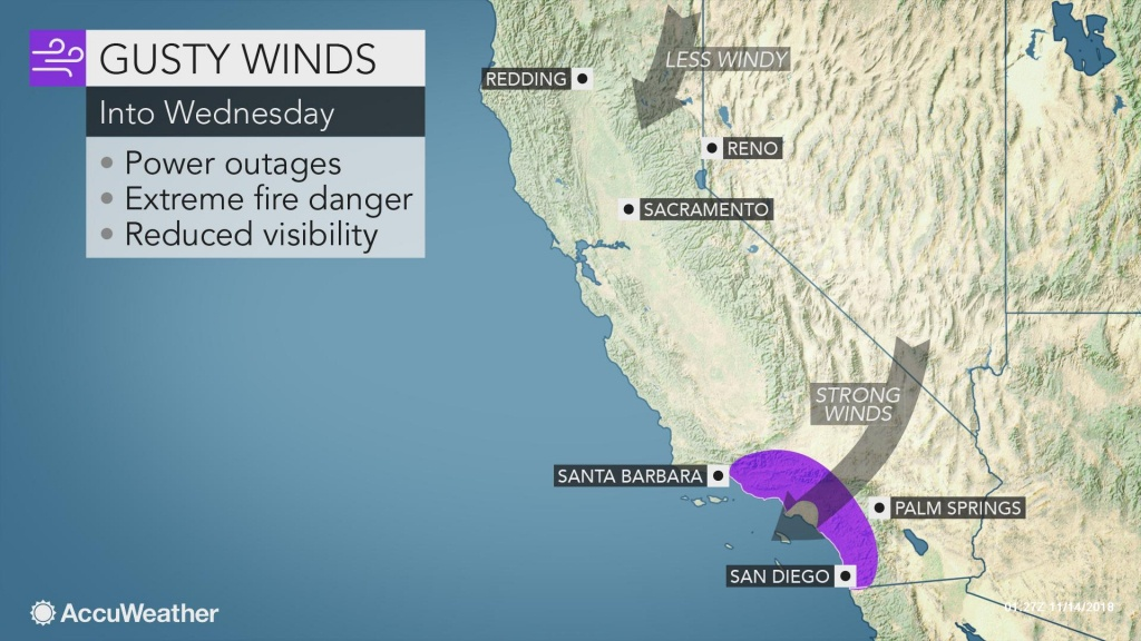 California Fire Disaster May Worsen As Strong Winds Howl For - California Night Hunting Map