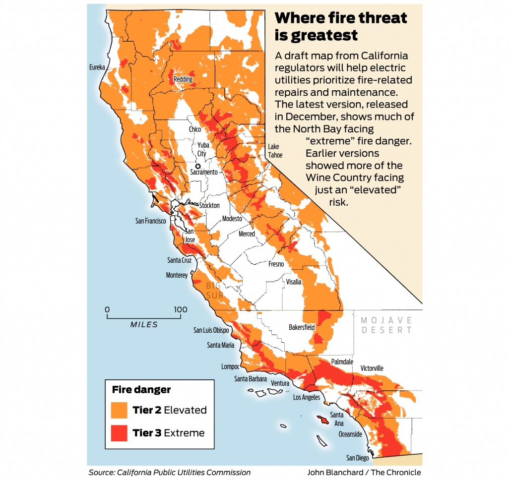 California Fire-Threat Map Not Quite Done But Close, Regulators Say - California Fires Map Today