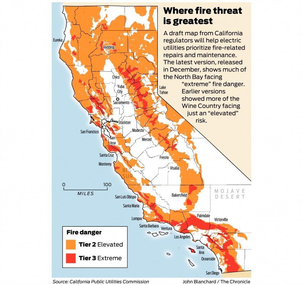 California Fire-Threat Map Not Quite Done But Close, Regulators Say - California Utility Map