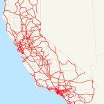 California Freeway And Expressway System   Wikipedia   Map Of California Highways And Freeways