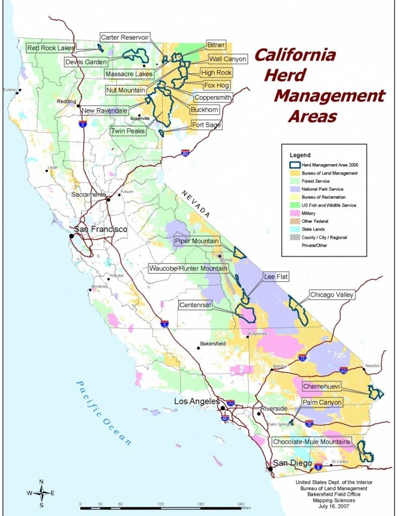 California - Herd Management Areas   Bureau Of Land Management - Blm Land Map Southern California